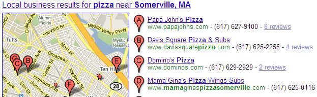 Click on image to see full size - Google Local Search