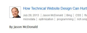 Technical Website Design and SEO - Blog Post by Jason McDonald, SEO Consultant